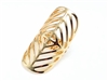Gold-Tone Perforated Stretch Ring